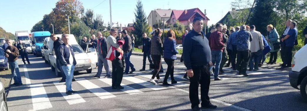 У Мостиськах перекрили міжнародну дорогу