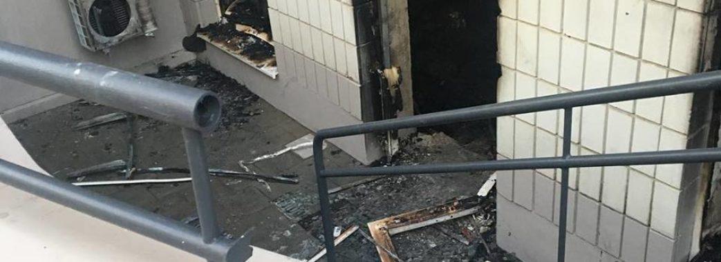 У центрі Львова спалили зоомагазин