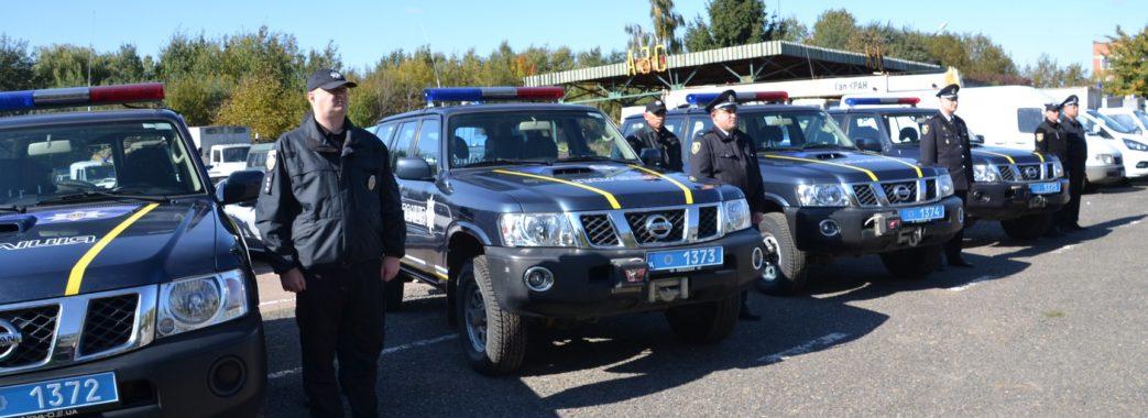 5 районів Львівщини отримали нові поліцейські авто