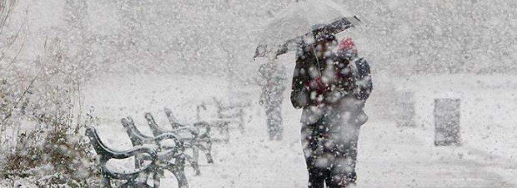 На Львівщину насувається сильний мокрий сніг
