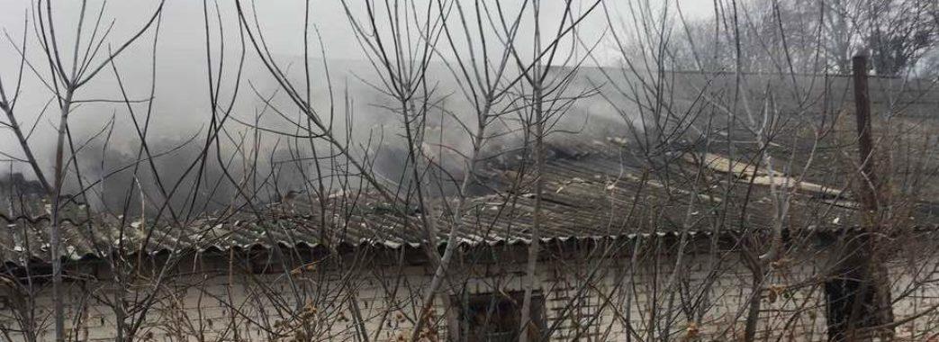 У Сокальському районі горіла господарська будівля (фото)