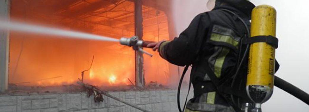 Пожежа у Городку: горіло цегляне приміщення