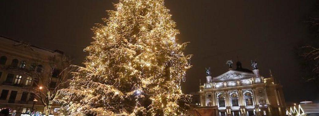 У Львові засвітили головну ялинку