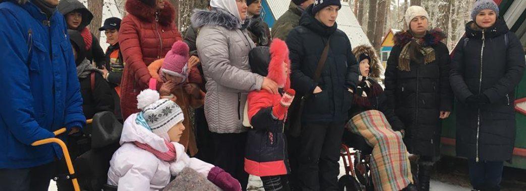 На Жовківщині діти з інвалідністю завітали у резиденцію св. Миколая