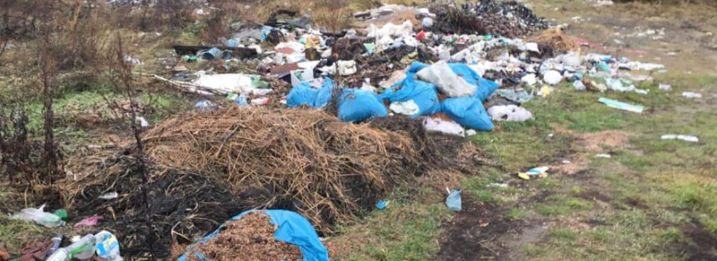 На Жовківщині люди утворили ціле звалище сміття