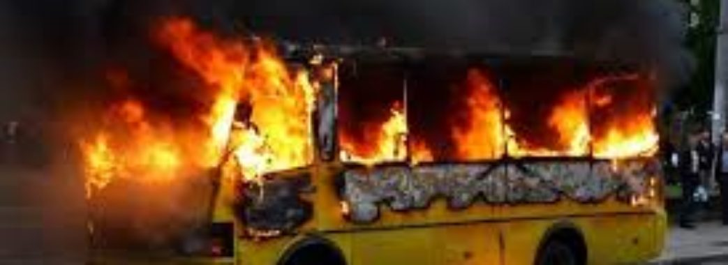У Львові загорілася маршрутка