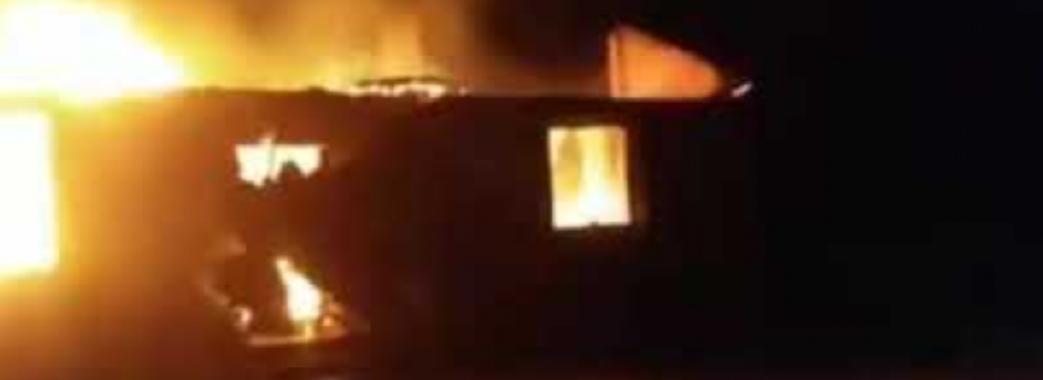 На Мостищині згоріла школа