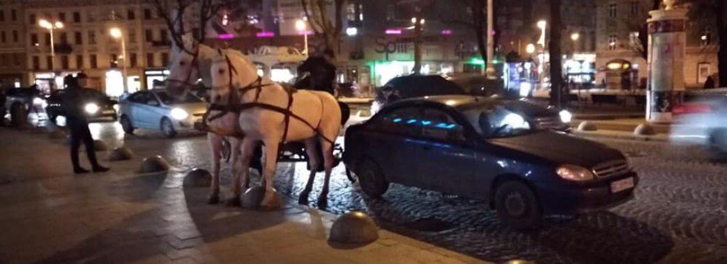 П'яний погонич у центрі Львова в'їхав у «Ланос»