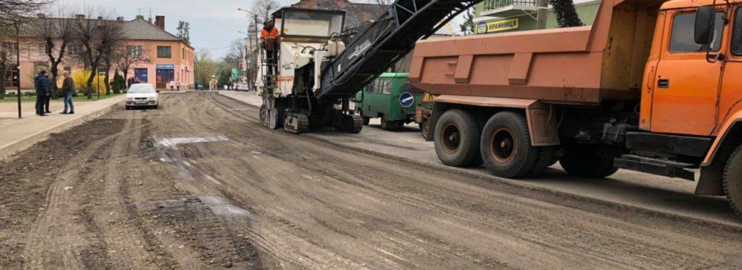 У Судовій Вишні розпочали ремонтувати дорогу