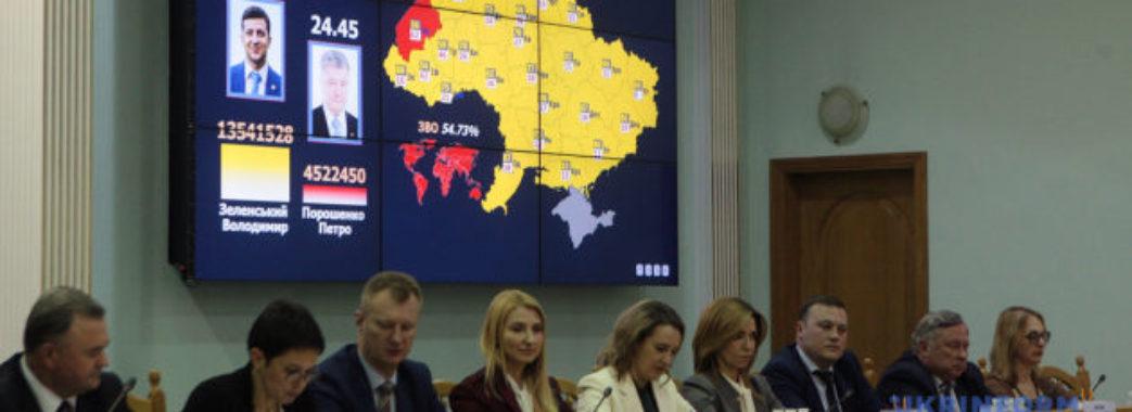 Центральна виборча комісія офіційно оголосила Зеленського новим Президентом України
