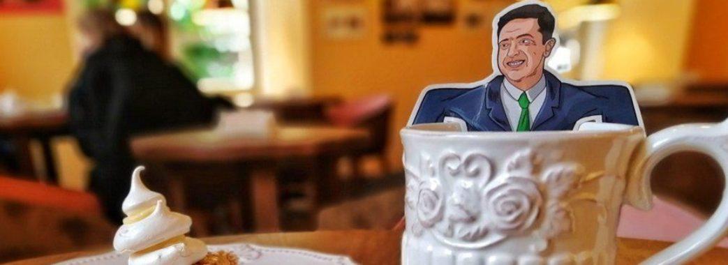 У львівському кафе можна випити зеленого чаю з портретом Зеленського