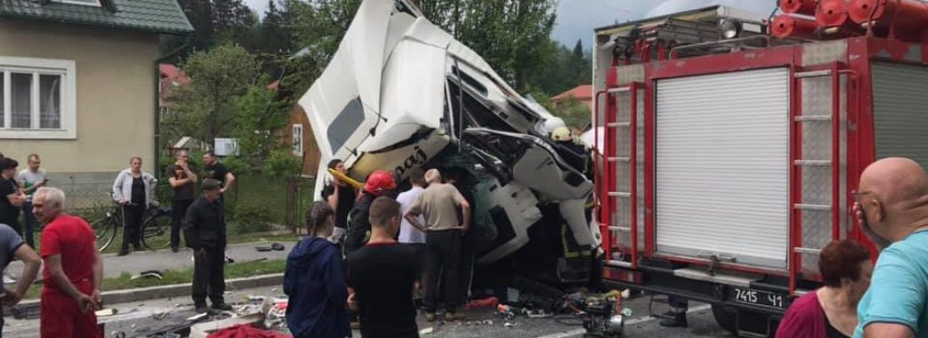 На Сколівщині загинув водій вантажівки із Хорватії