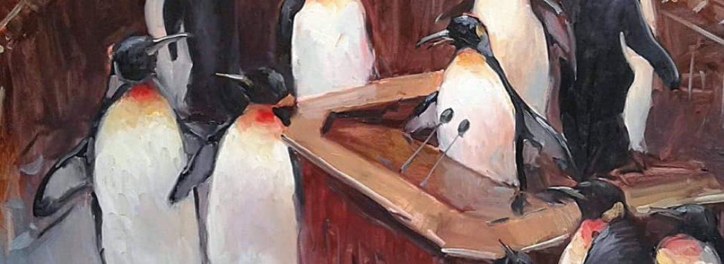 Офіс президента прикрасили картиною з пінгвінами у Верховній Раді