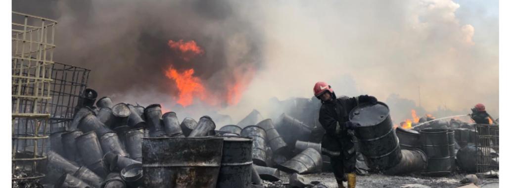 Є перші потерпілі від пожежі на хімічному виробництві