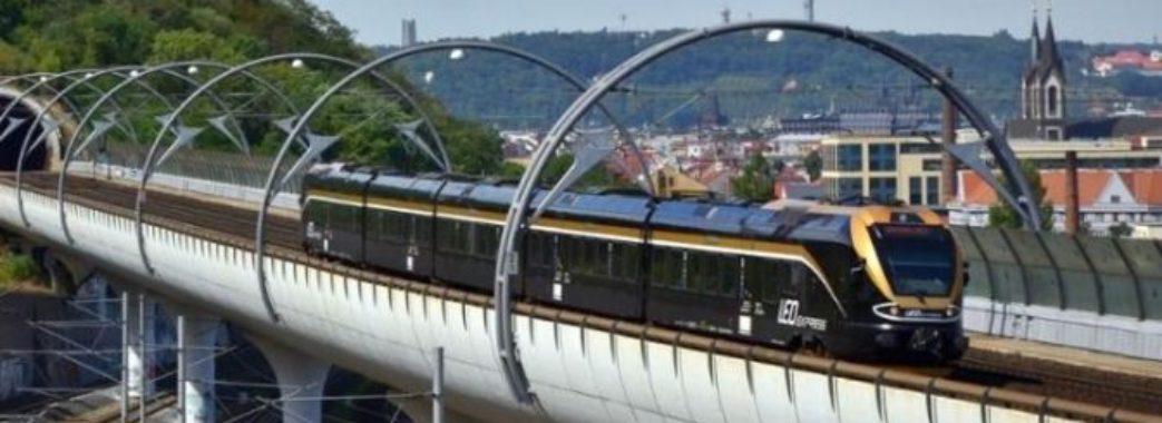 У червні 2020 року запустять потяг з Праги до Мостиськ