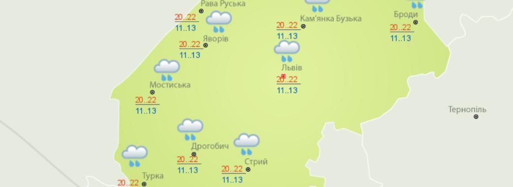 Погода на Львівщині буде по-справжньому осіння