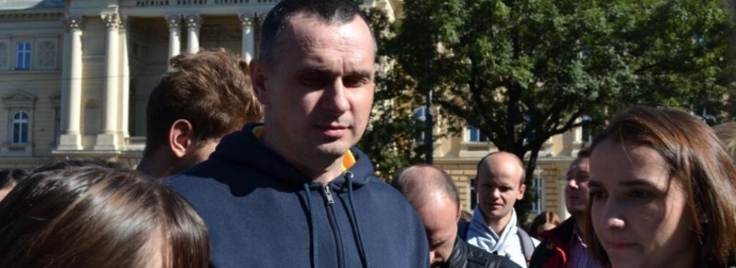 У Львові відбулась акція за участі Сенцова на підтримку заручників Кремля
