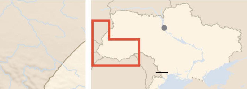 The New York Times опублікувало карту України без Криму