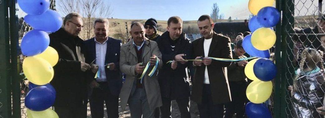 У найбільшому селі Турківщини відкрили спортивний майданчик