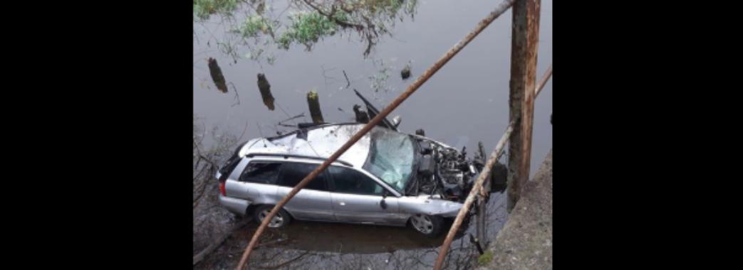 На Сокальщині легковий автомобіль злетів з мосту у річку