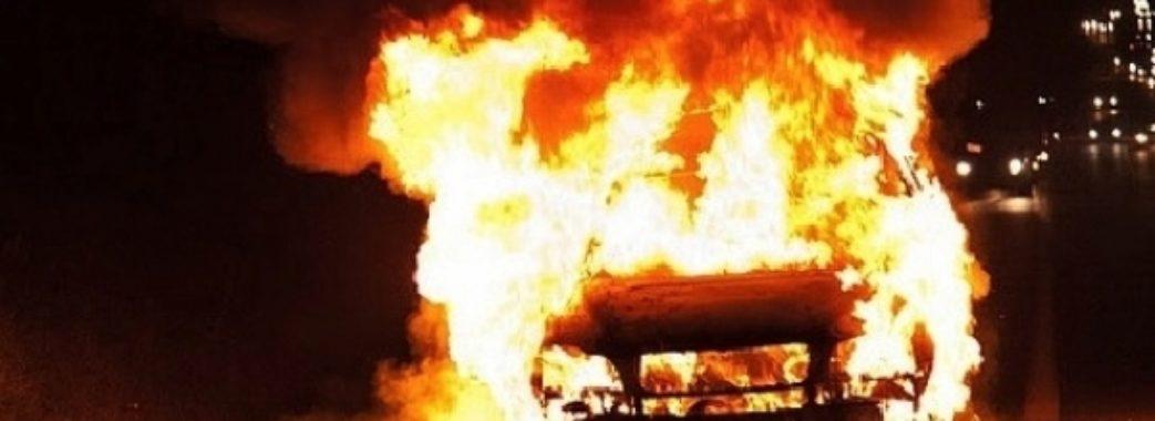 На Яворівщині вщент згорів автомобіль BMW