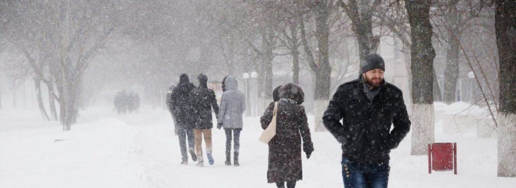На Львівщину суне снігопад