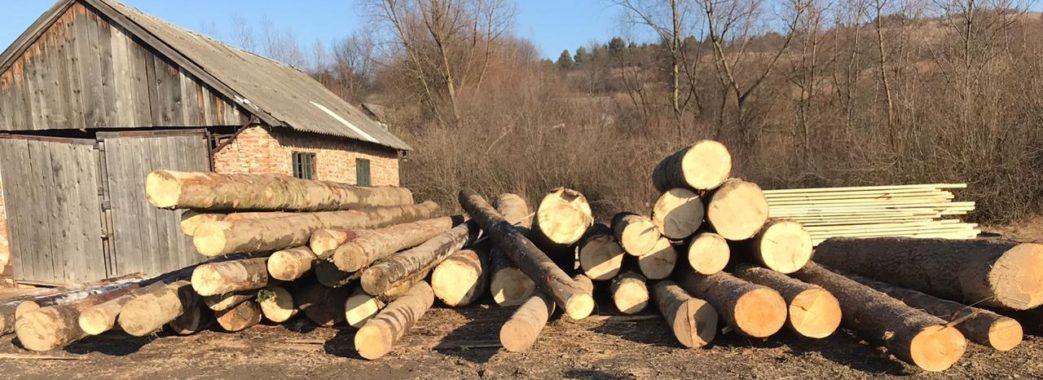 На Старосамбірщині знову вилучили велику партію незаконно зрубаних дерев