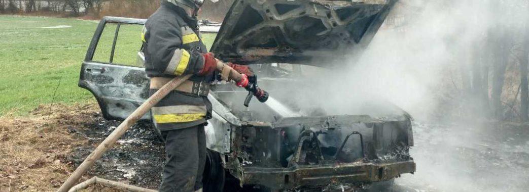 На Яворівщині вщент згорів автомобіль