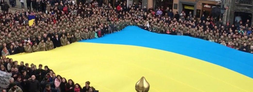 У Львові масово заспівають гімн України
