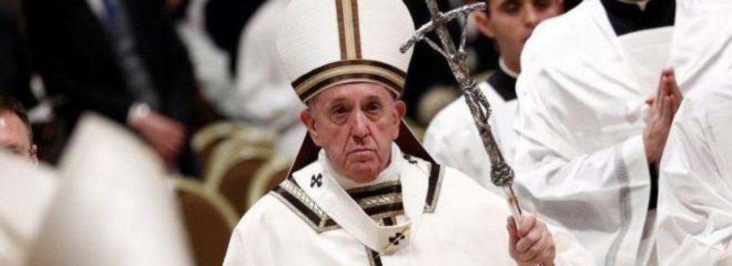 Папа Римський вперше виголосив проповідь онлайн