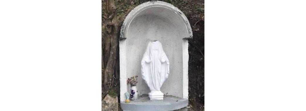 «Здогадуємося, хто б це міг зробити»: на Миколаївщині поглумилися над фігуркою Діви Марії