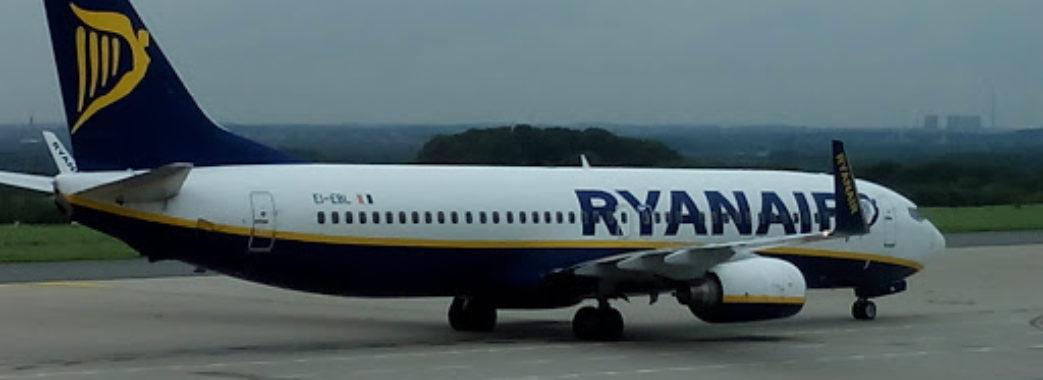 Лоукостер Ryanair до червня скасував рейси зі Львова