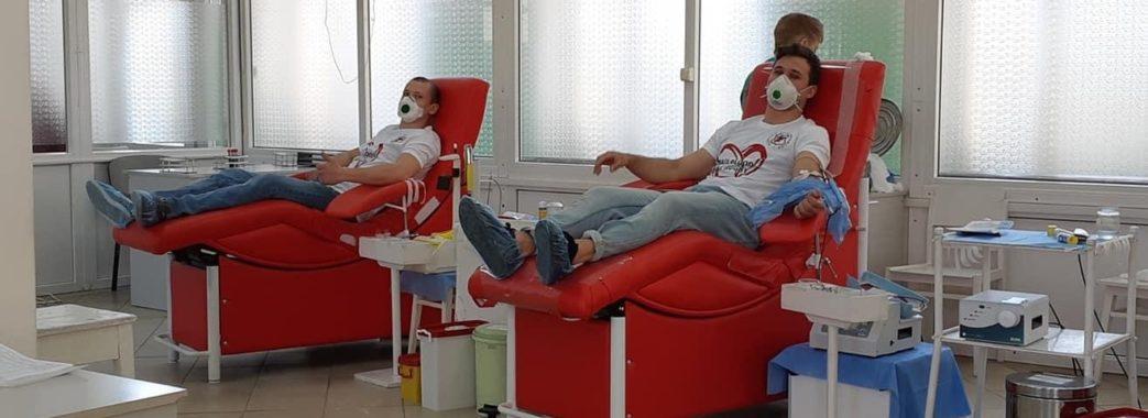 Спортсмени львівських клубів стають донорами крові
