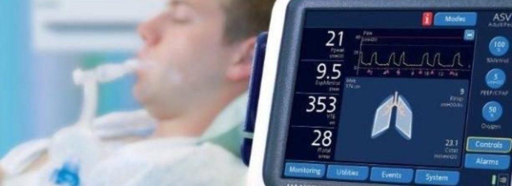 Сьогодні лікарні Львівщини отримають шість апаратів ШВЛ
