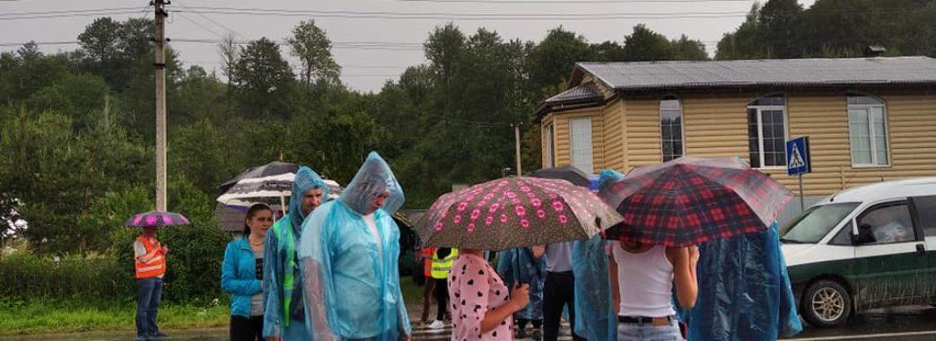 На Старосамбірщині відновлять акцію протесту через дорогу Стрілки-Мшанець (ВІДЕО)
