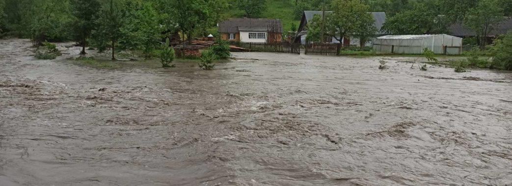 Частину сіл на Старосамбірщині затопило (ВІДЕО)