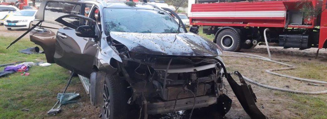 На Мостищині на базі відпочинку загорівся автомобіль: загинув чоловік