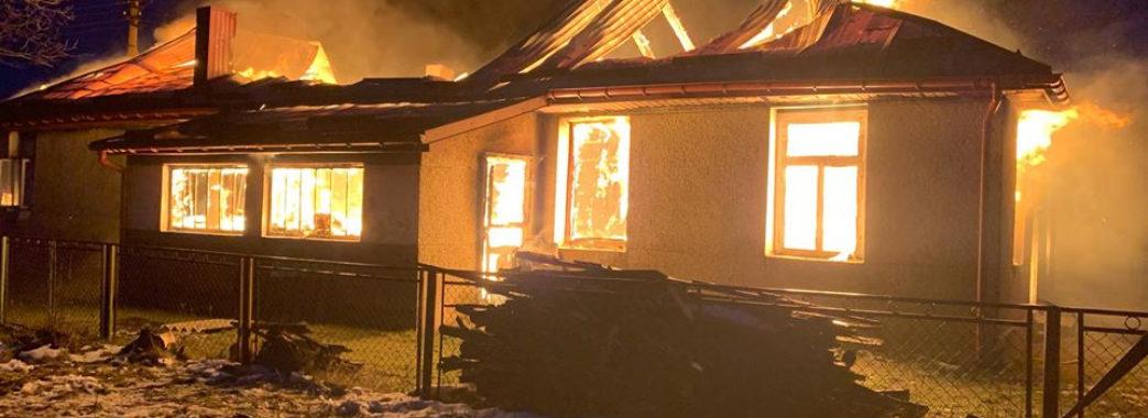 На Старосамбірщині ледь не згорів будинок