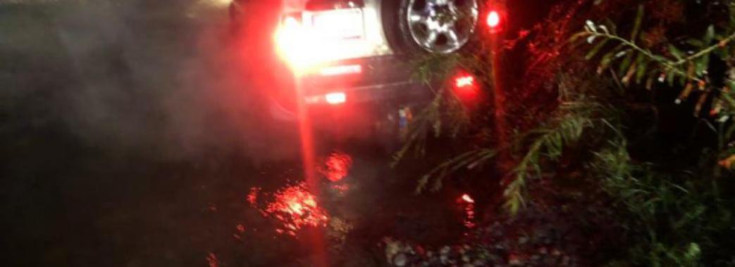 Хотів переїхати річку: на Самбірщині рятувальники витягували автомобіль з Дністра