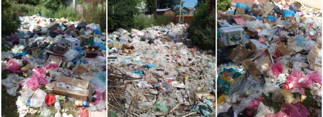 Містечко на Старосамбірщині тоне у смітті: влада вважає, що проблеми нема (ВІДЕО)