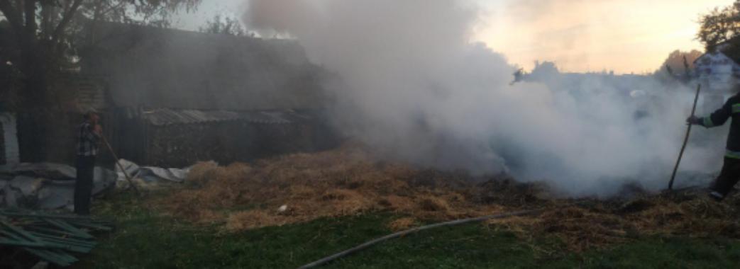 На Кам'янка-Бужчині третьокласники підпалили солому: пожежу гасили 6 рятувальників