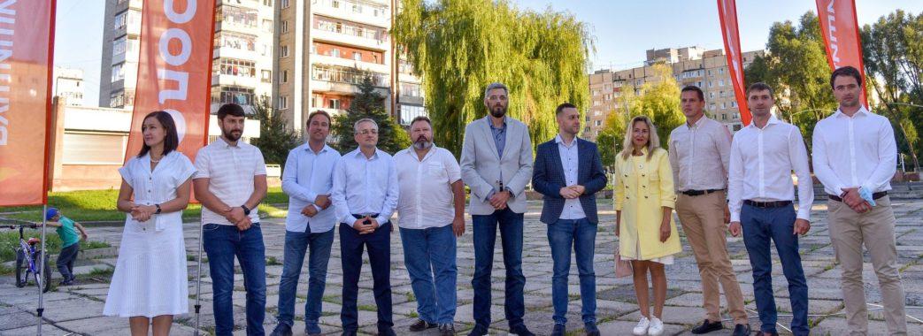 Ярослав Рущишин представив команду «Голосу» Франківського району