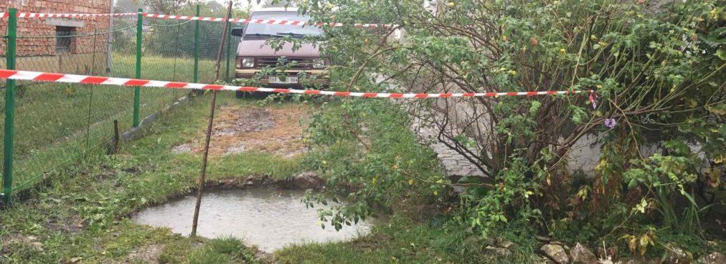 У Бориславі частина приватного подвір'я провалилася у шахту