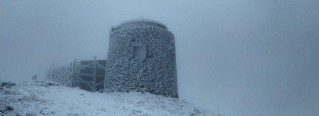 Зима близько: у Карпатах мороз та сніг