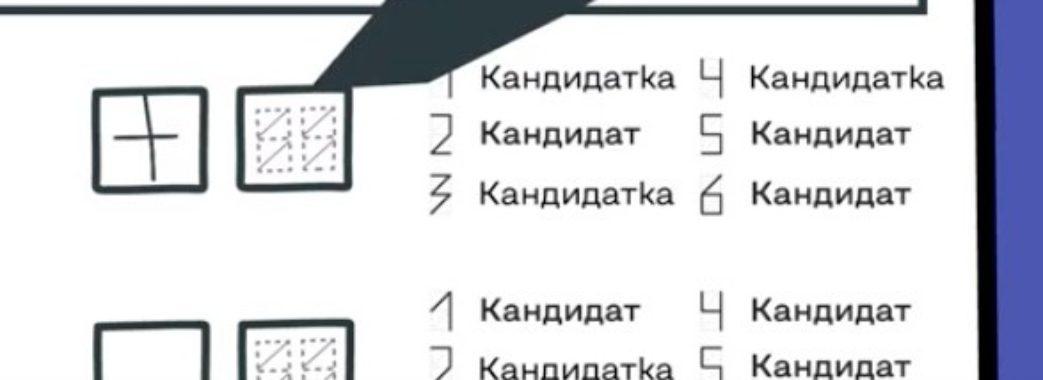 Щоб уникнути помилок: ЦВК показала, як правильно заповнити виборчий бюлетень