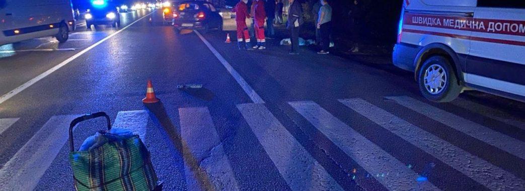 На Яворівщині водій BMW на смерть збив літню жінку (ФОТО)