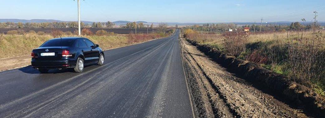 Ремонт об'їзної Золочева: дорожники завершили влаштування асфальту