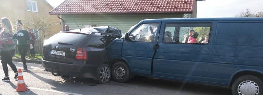 І ще одна аварія: у Хирові зіткнулися дві автівки