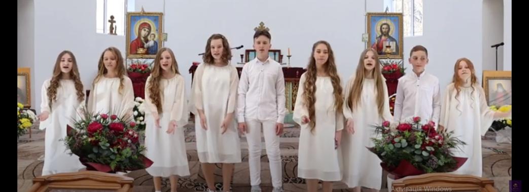 «Перше місце»: діти з Новояворівська записали зворушливу пісню до Великодня (Відео)