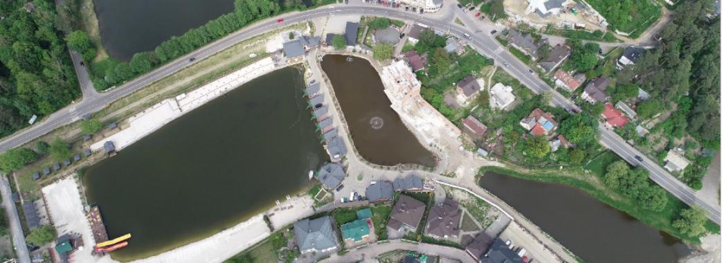 У Брюховичах розгорівся скандал через будівництво багатоповерхівки в охоронній зоні озера